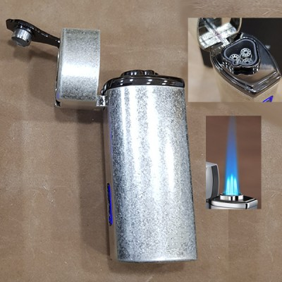 026-ANS Torch lighter Ancient SILVER gas 3 flame GG