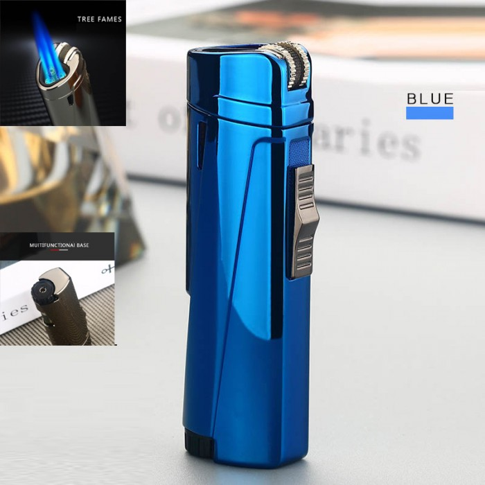 027-BLUE Torch lighter Blue gas 3 flame GG