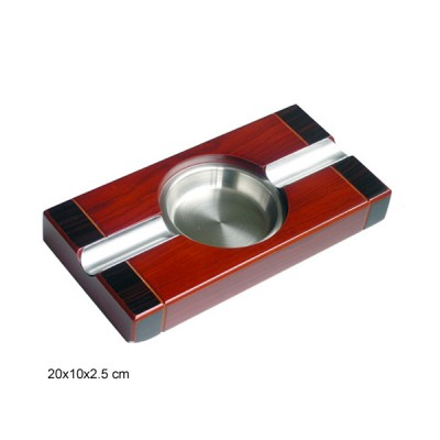 Cigar ashtray ,wooden-stainless steel