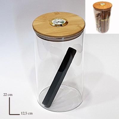 0531 GLASS JAR +hygrometer+humidifier