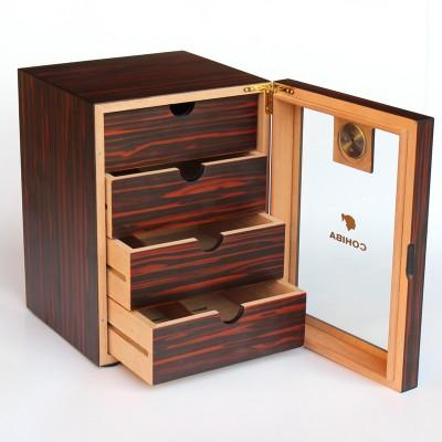 0575-C-COH Matt finish small wooden cabinet, cherry