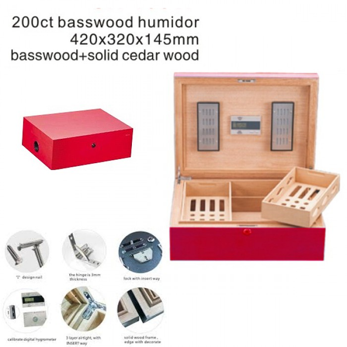 1031G-RED-200ct-humidor