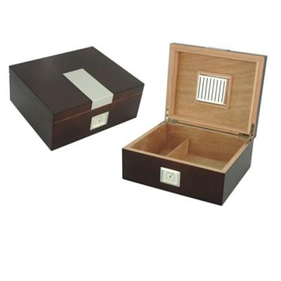 Humidor 25 cigars wood-metal