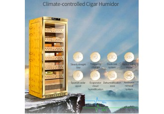 1800 Cigar Cabinet humidity-cooling system 60x61x122 h