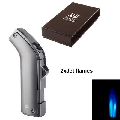 221072 Winjet Lighter Saillon 2xJet, dark gun, cigar punch
