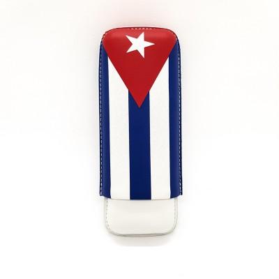 4071 Cigar case with the Cuban flag