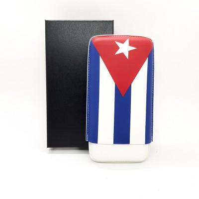 4072 Cigar case  with the Cuban flag