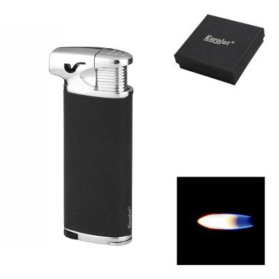 257240 Eurojet Pipe Lighter piezo, black/silver