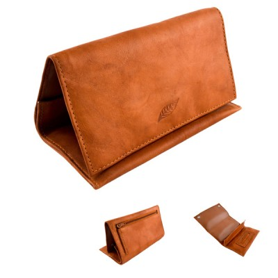 Leather Tobacco Pouch Tan
