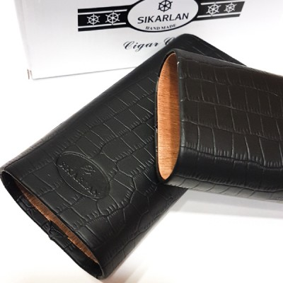 Sikarlan cedar Cigar case for 3 cigars