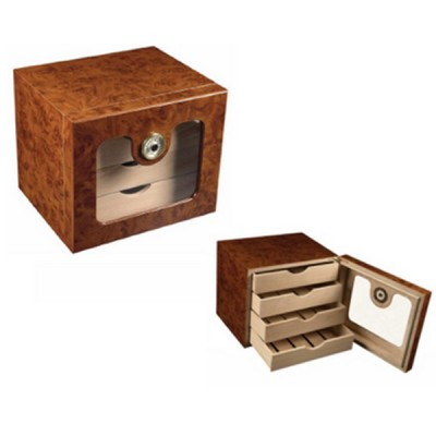 Cigar humidor with glass window door 4005-B