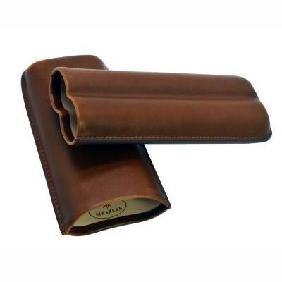 4043 Cigar Case for 2 cigars brown