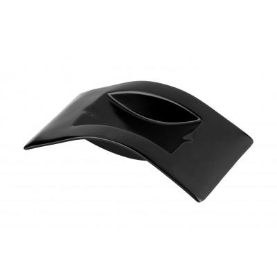 421009 Cigar Ashtray Ceramic Black matt 2 slots 19x11x4cm