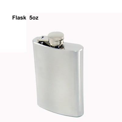 490120 Hip Flask 5 oz chrom brushed