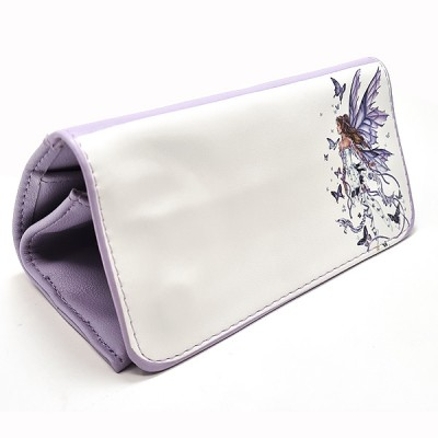 Artificial leather tobacco pouch with magnet (Butterfly Fairy)