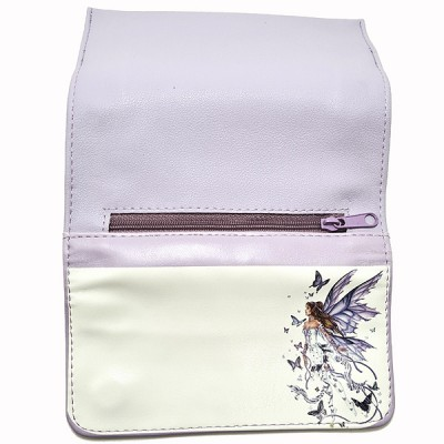 508-37 Artificial leather tobacco pouch with magnet (Butterfly Fairy)