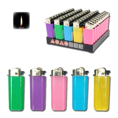 GO Mini flint disposable lighter in various colors,