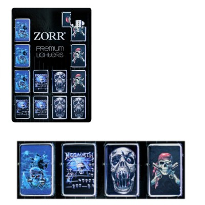 ZORR Skull  lighter type Zippo Flame, metal refillable