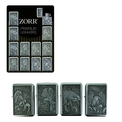 ZORR Free Ride lighter type Zippo Flame, metal refillable