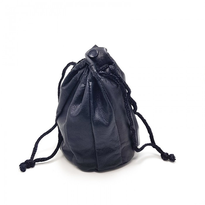 850000 Tobacco Pouch Leather 11cm Black