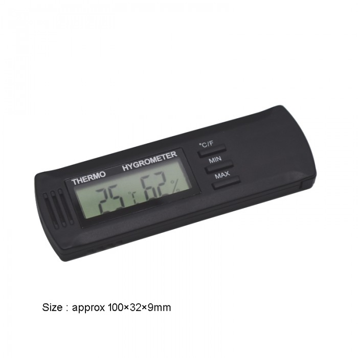 Digital hygrometer/thermometer black