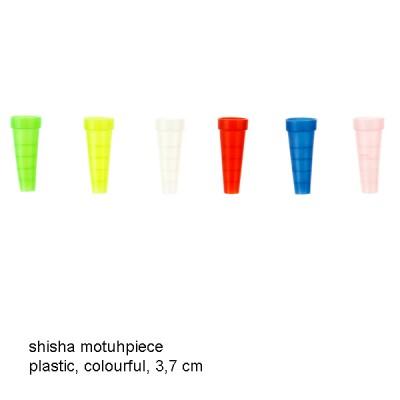 948820 Dreamliner shisha mouthpiece plastic, colourful, 3,7 cm