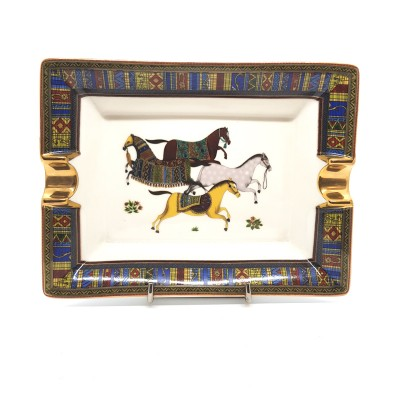 ASH-28-1 ashtray CERAMIC HORSE design