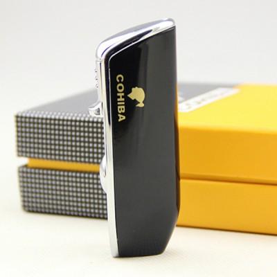 COB-528-BL Black lighter 3 jet flame gift box