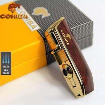 COB-528-BR Brown lighter 3 jet flame gift box