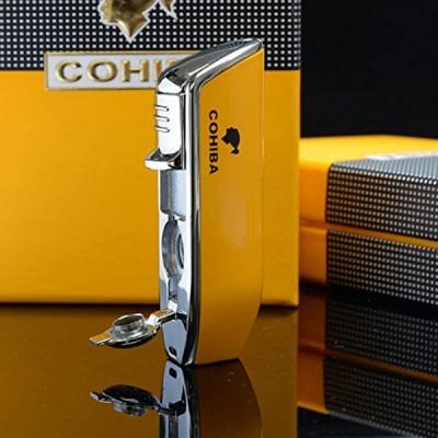 COB-528-YE Yellow lighter 3 jet flame gift box