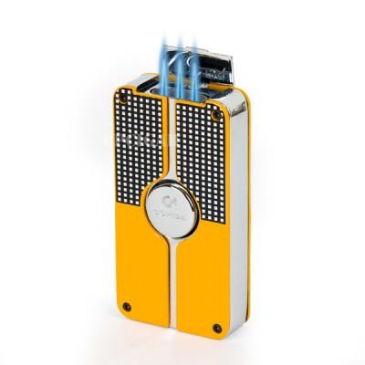 COB-58-A yellow lighter 3 jet flame gift box