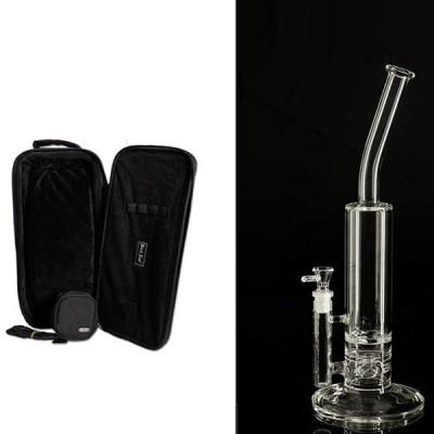 Blaze' Glass Bong w. Turbinen in a Case, h:35cm