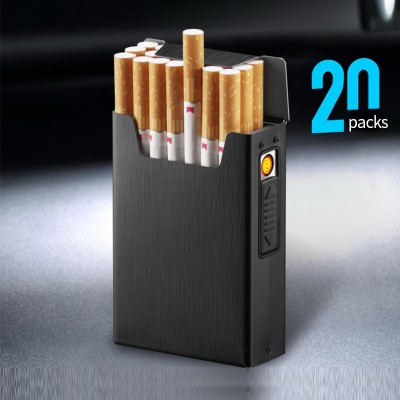 HC-011 Heat coil lighter black 20 cigarette casse  /GG