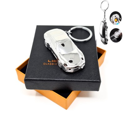 HC-032-S Heat coil silver KeyChain lighter  /GG