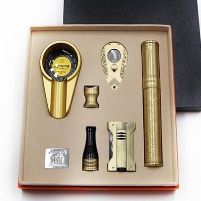 JF-115 SET JIFENG lighter+cutter+ashtray+holder