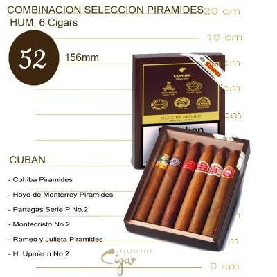 COMBINACION SELECCION PIRAMIDES HUM. 6 Cigars
