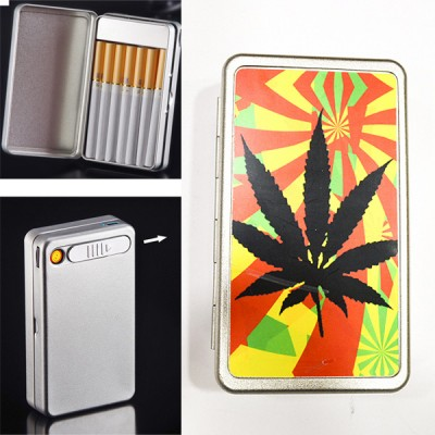 ARC-B10-4 cigarette case+ lighter