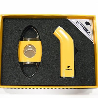 COB-1001 SET LIGHTER+CUTTER YELLOW