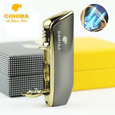 COB-528-GR Grey lighter 3 jet flame gift box