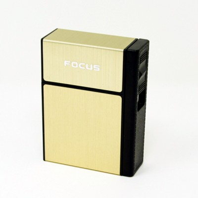 JD-H035-G arc lighter+ cig.case usb-gold
