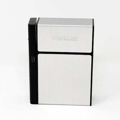 JD-H035-S arc lighter+ cig.case usb-silver