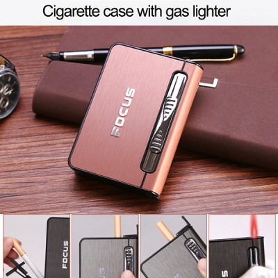 JD-YH002-B arc lighter+ cig.case usb-brown