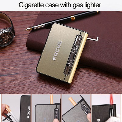 JD-YH002-G arc lighter+ cig.case usb-gold