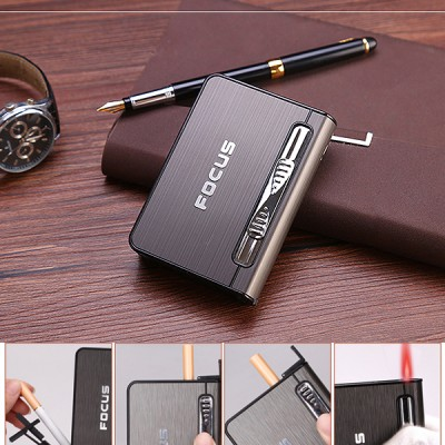 JD-YH002-M arc lighter+ cig.case usb-metal