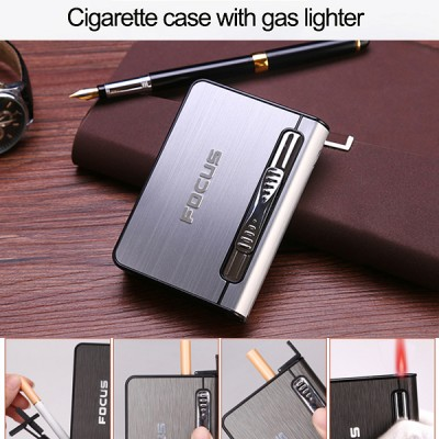 JD-YH002-S arc lighter+ cig.case usb-silver