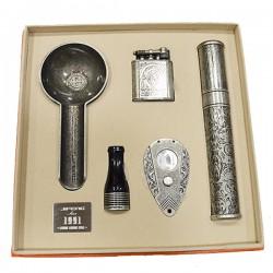 JF-111 SET JIFENG lighter+cutter+ashtray
