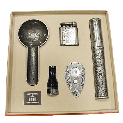 JF-111 SET JIFENG lighter+cutter+ashtray