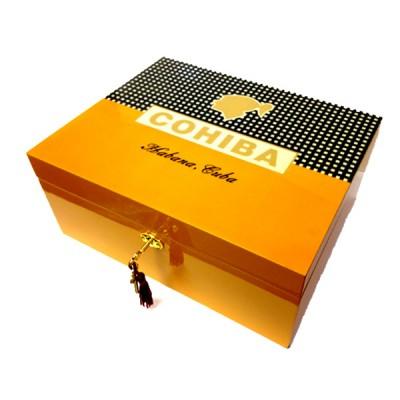 Cigar humidor with Cohiba logo
