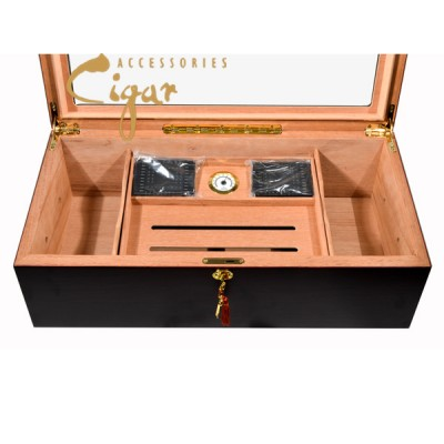 Desk glass top humidor