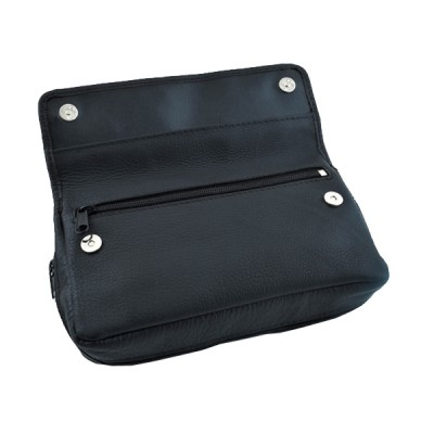 Pipe case 100% leather black